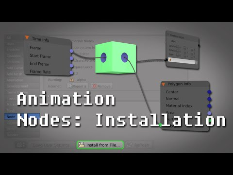 Tutorial I Introduction to the Animation Nodes Addon in Blender