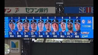 2018年7月22日(日)メットライフドーム 埼玉西武ライオンズ vs 東北楽...