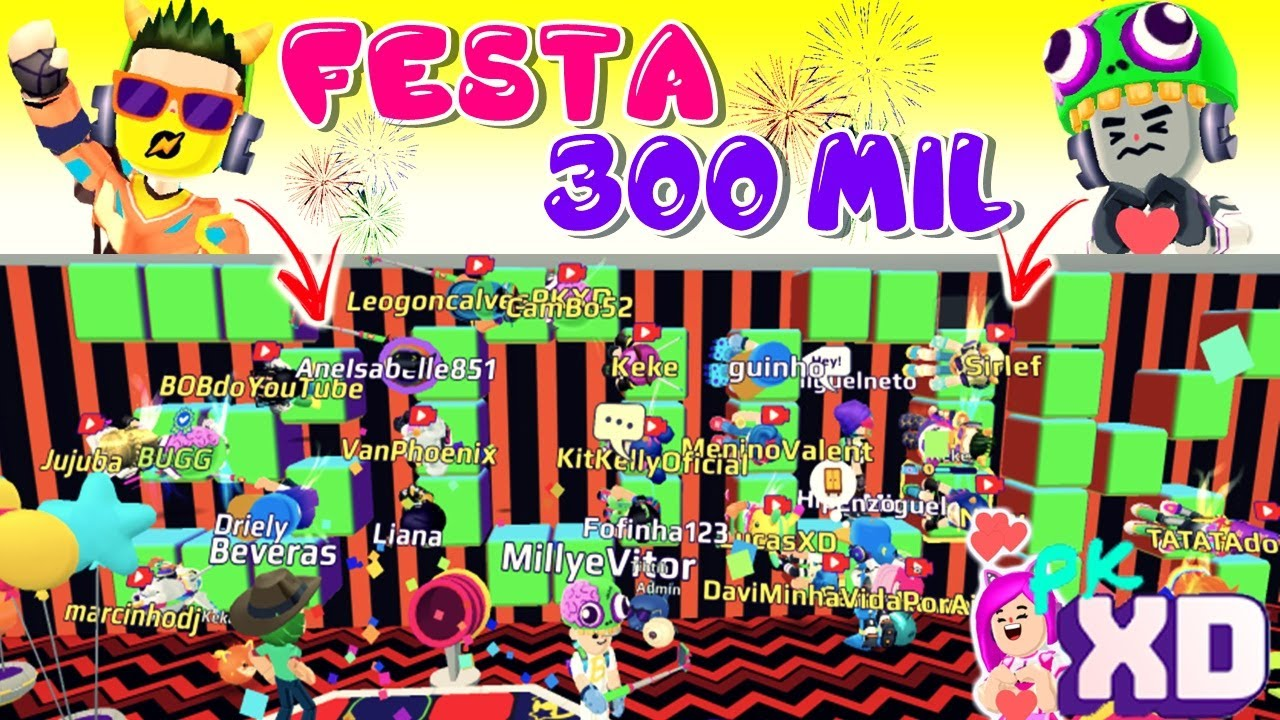 ADMIN, BUGG E YOUTUBERS NA FESTA DE 300 MIL INSCRITOS