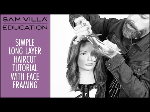 Simple Long Hair Haircut Tutorial with Face Framing