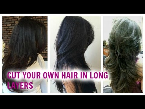 How to Cut Your Hair Easily in Long Layers at Home