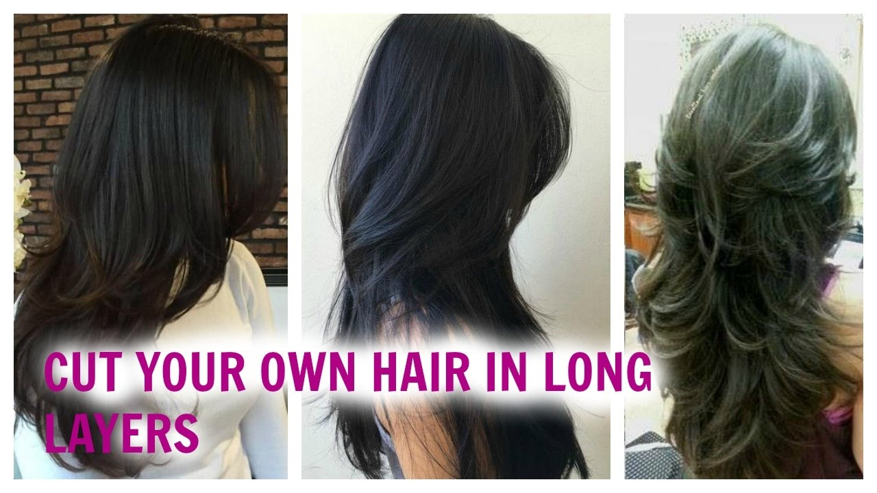 How To Cut Your Hair Easily In Long Layers At Home Without Loosing