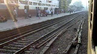 Entering Aligarh Junction: Howrah New Delhi Duronto on-board
