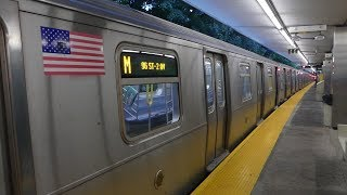 MTA NYCTA: On Board R160A-1 M Train to 96th St from Metropolitan Ave to Marcy Ave Part 1 (Weekend)