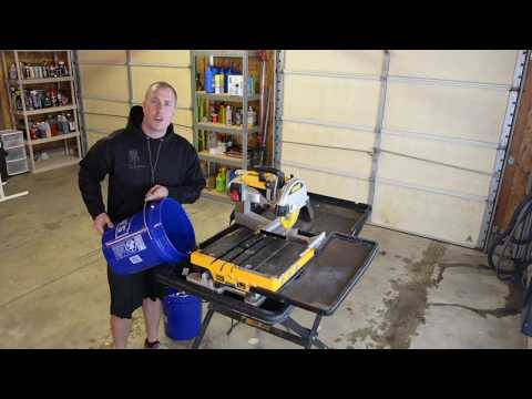 WHY YOU SHOULD BUY The DeWalt Tile Saw!