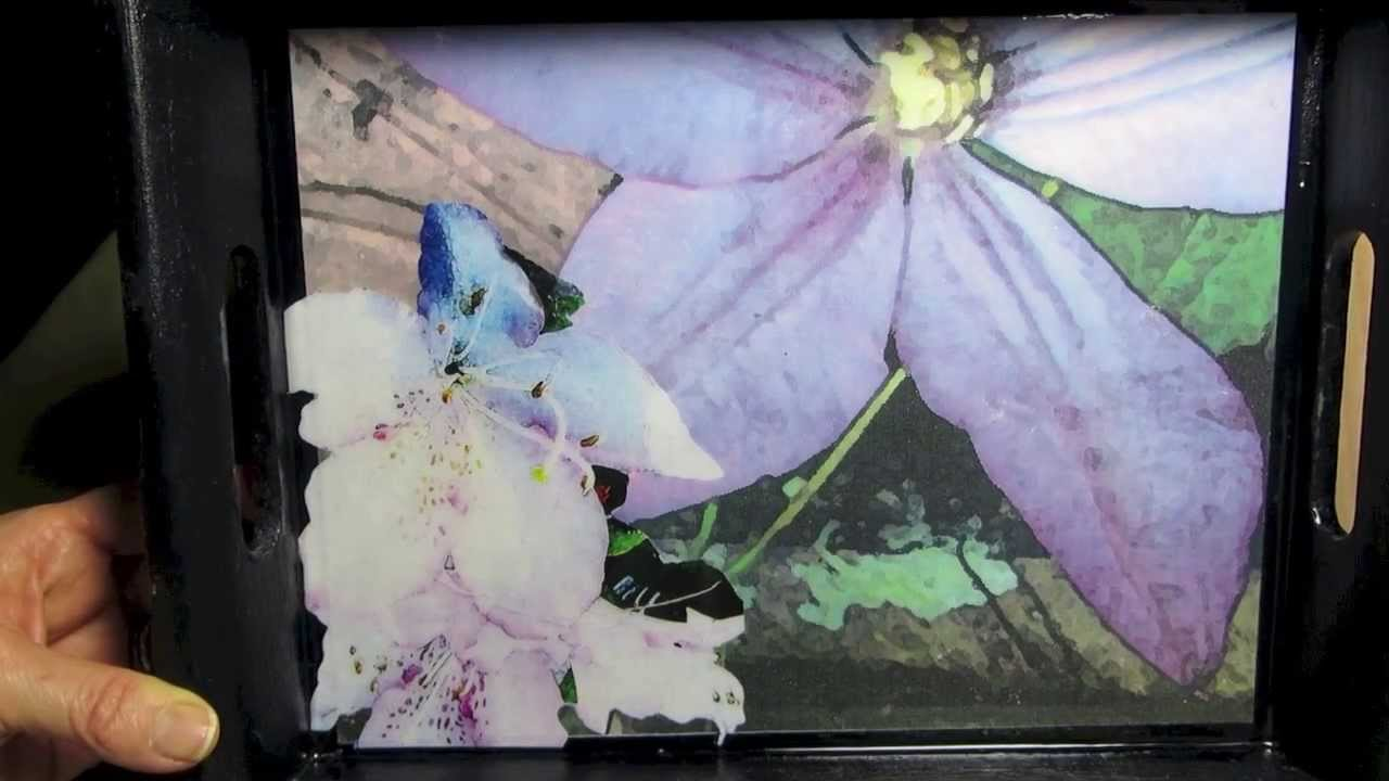How to decoupage your photo's - YouTube