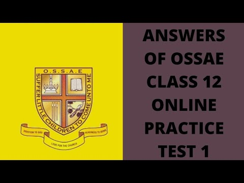 Answers of Online practice test -1 OSSAE Class12 - YouTube