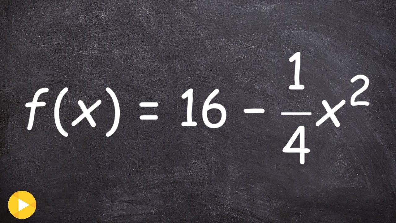 2 1 Finding The Vertex And X Intercepts Of A Quadratic