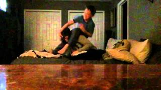 WWE WRESTLING MATCH mom vs son for the United States championship!!!!!