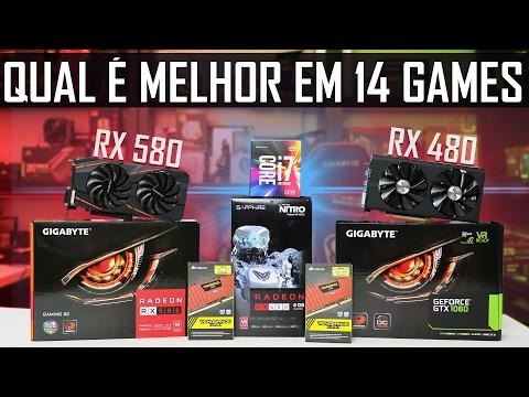 « QUAL É A MELHOR??? » RX 580 vs RX 480 vs GTX 1060 em 14 Games
