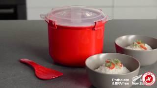 Контейнер для мікрохвильової печі Sistema Microwave Rise Steamer 2,6 л Red (1110)