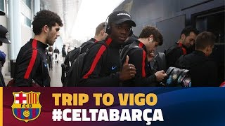 FC Barcelona have arrived in Vigo ahead of their game against Celta