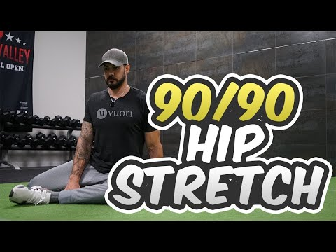 How to Perform a 90/90 Hip Stretch (HIP FLEXOR STRETCH)