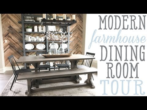 Ashley's Modern Farmhouse Dining Room Tour