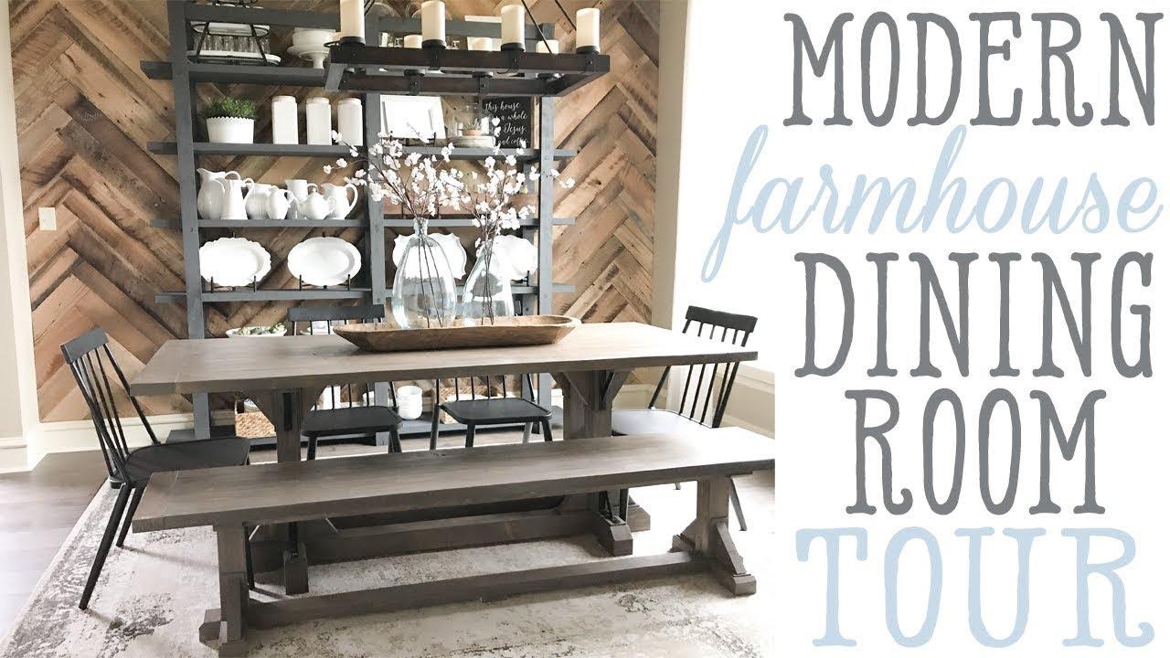 Ashleyu0027s Modern Farmhouse Dining Room Tour