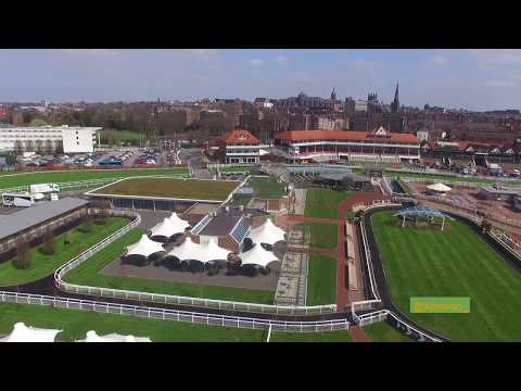Aerial Footage of Chester Racecourse | Chester, UK