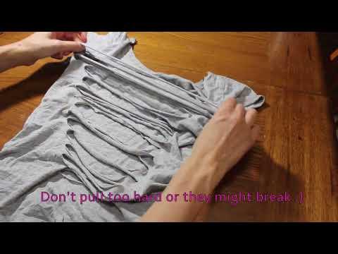 Easy How To T Shirt Cutting Design Diy T Shirt Weaving Tutorial Youtube