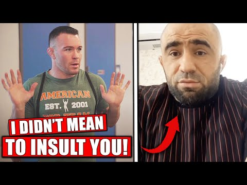 Several Dagestanis training @ ATT confronted Colby Covington after his comments about Khabib Nurmagomedov