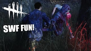 SWF FUN ft GIRLFRIEND! | Dead By Daylight LEGACY SURVIVOR