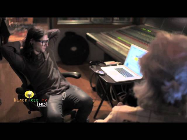 Skrillex in the studio creating music! (R.I.P Ray Manzarek) Travel Video