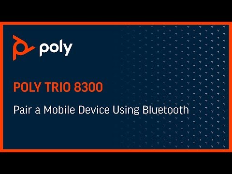 Trio 8300 - Pair a Mobile Device Using Bluetooth
