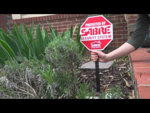 Home Security Yard Sign and Decals | SABRE