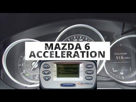 mazda 6 kombi 2.0 165 ps - acceleration 0-100 km/h - youtube