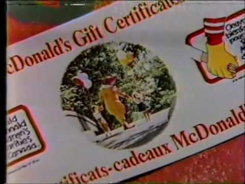 mcdonald's - holiday gift certificate commercial (1990) -