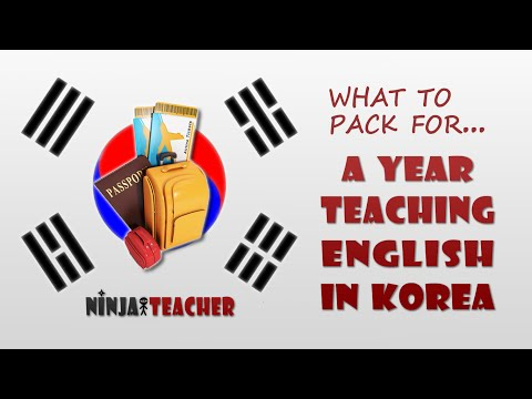 What To Pack For A Year Teaching English In Korea