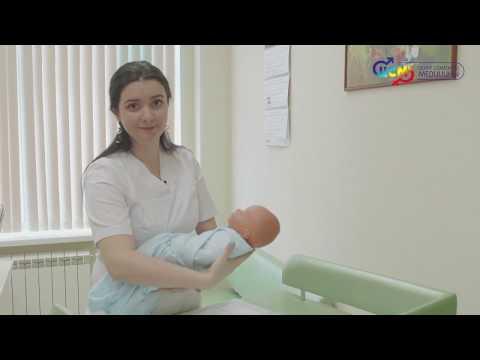 Как пеленать ребенка новорожденного видео