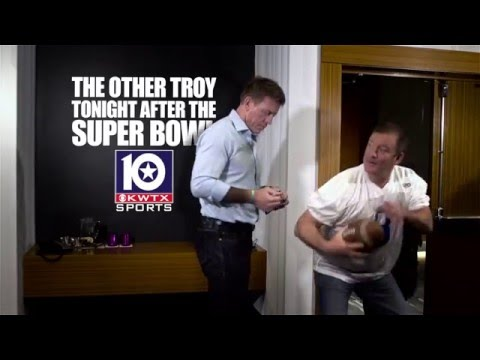 KWTX Super Bowl commercial with TROY AIKMAN and MIKE SINGLETARY