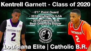 Kentrell Garnett Highlights - Catholic B.R./Louisiana Elite 2020 PG