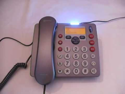 Medical Alert System - Example of Base Unit Receiving a Call