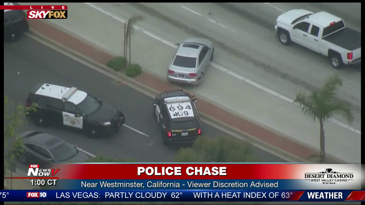 FULL: Police chase stolen vehicle suspect in LA area (FNN)