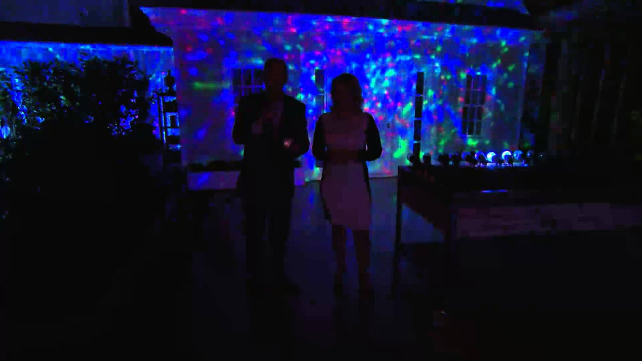 Set of 2 Indoor Outdoor Kaleidoscope LED Lightshow Projectors with
