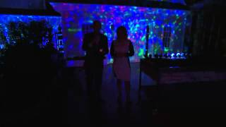 Set of 2 Indoor Outdoor Kaleidoscope LED Lightshow Projectors with Dan Hughes