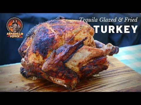 Turkey In Char-Broil Big Easy Oil-Less Fryer | Tequila Glazed Turkey