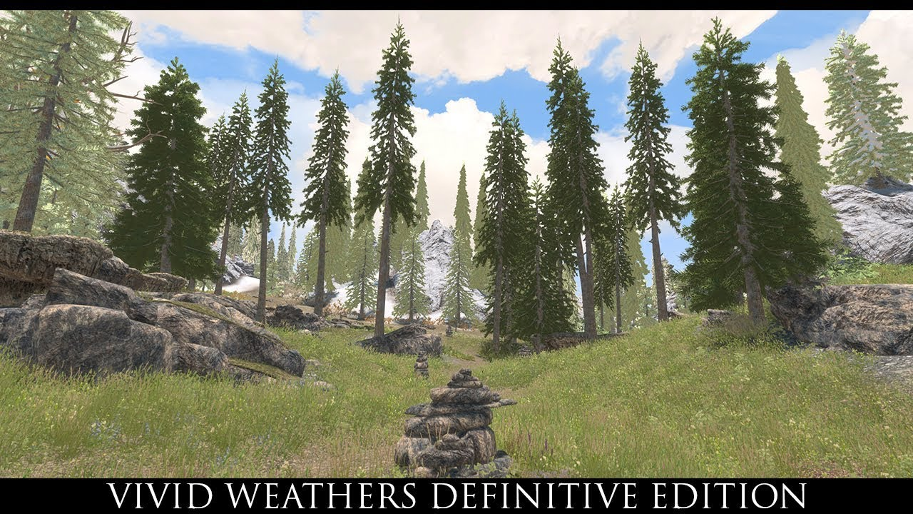 Skyrim SE Mods: Vivid Weathers Definitive Edition !OUT DATED! New video  will be up in 2days!