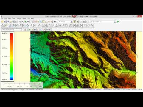 Tutorial Topografia: como obtener un perfil del terreno con Global Mapper | TravelBook.TV