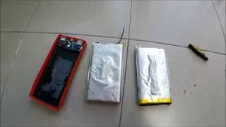 buka isi dalam Powerbank Pineng PN-969 (Bateri kembung)