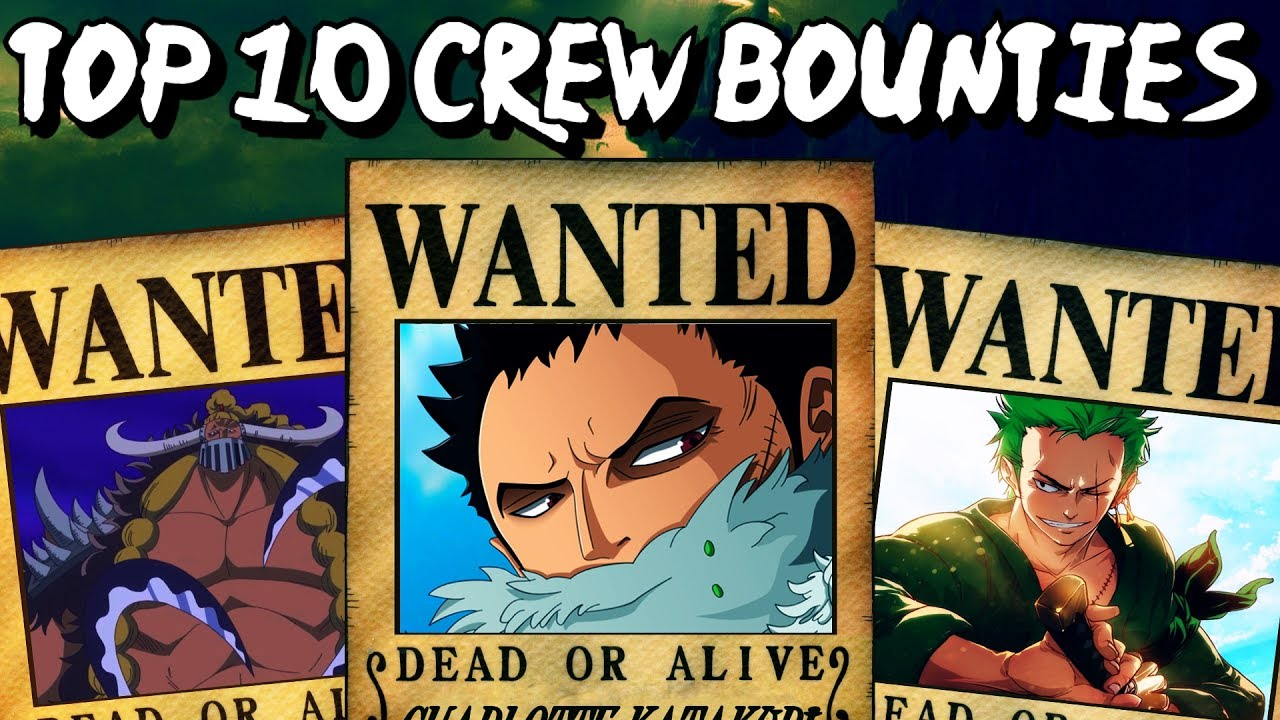 Top 10 Crews With The Highest Bounties In One Piece - YouTube