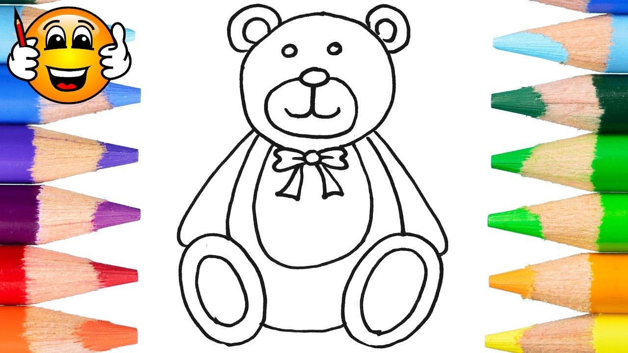 coloring pages for kids teddy bear coloring for kids bibabibo