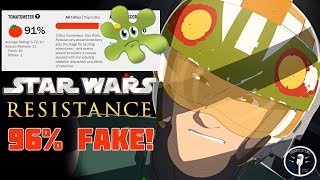 Star Wars: Resistance 96% FAKE 5 Star Reviews.