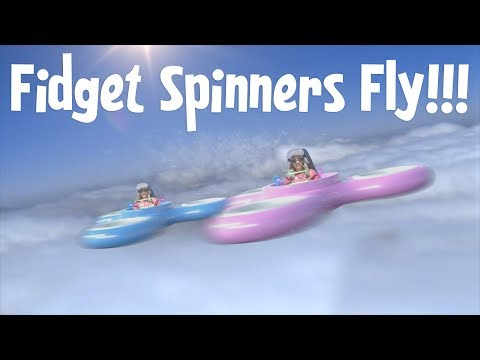 KIDS REALLY FLY in FIDGET SPINNERS!!!(Part 2 of Mermaids Fly Over Mystery Waters)