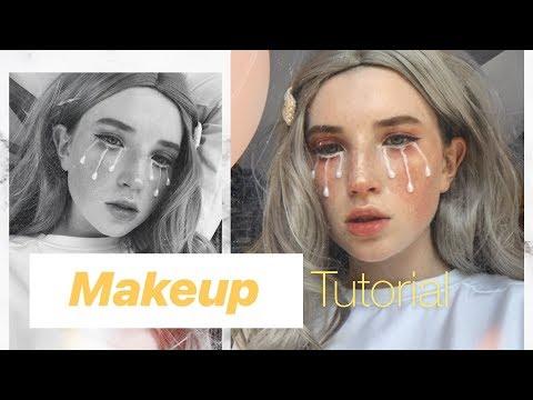 Как нарисовать слезы на лице