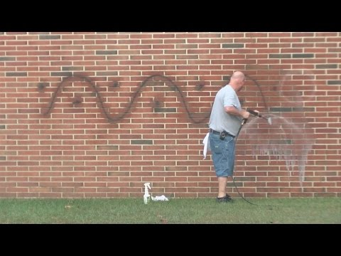 Science Hill High vandalized overnight; Crews try to remove graffiti