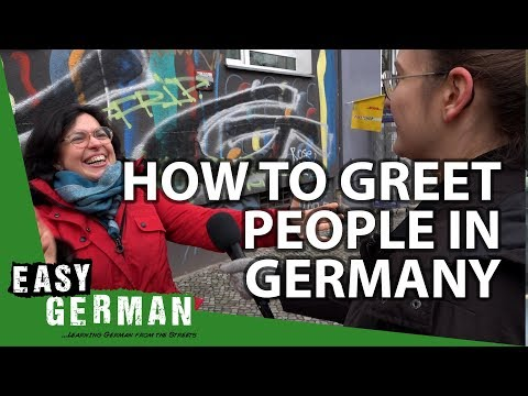 Download Youtube: How to greet people in Germany? | Easy German 236