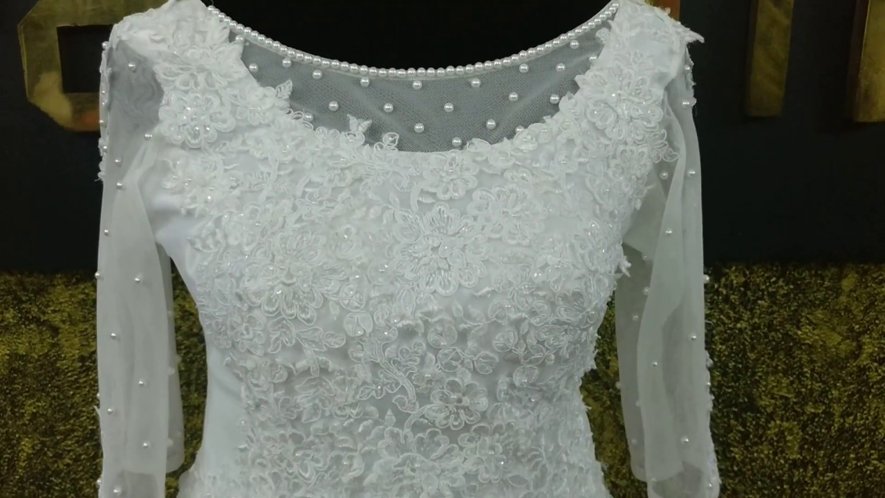 651a250a9830 Pearl work wedding gown with Boota - YouTube