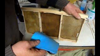 Noch eine möglichkeit Wabenrähmchen bauen/Еще одна возможность изготовления сотовых рамок/comb honey