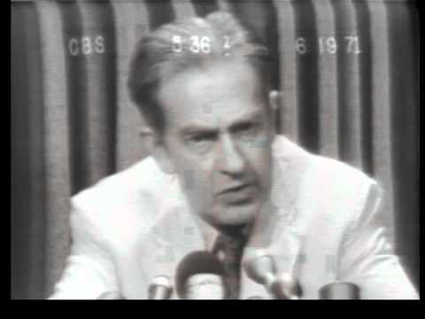 Clifford P. Case seeks to restrict CIA powers; Nixon's campaign spending in 1968 set record (1971)